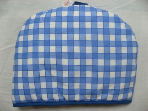 BLUE COLOUR QUILTED CHECK 100% COTTON TEA COSY